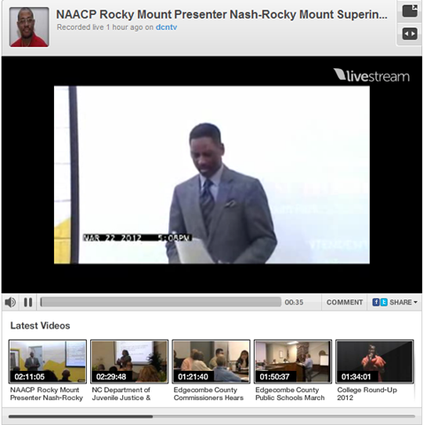 NAACP Rocky Mount Guest Speaker Nash-Rocky Mount